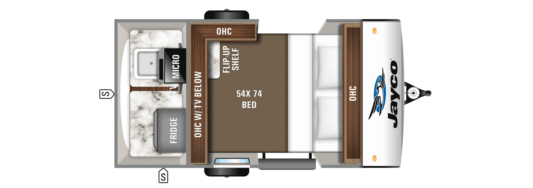 Jayco Hummingbird 10RK Floorplan