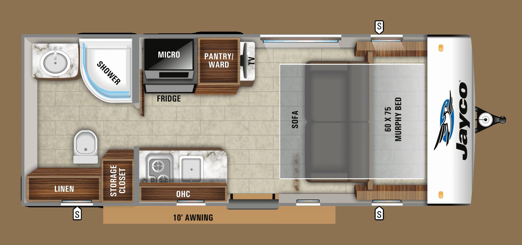 Jayco Hummingbird 16MRB Floorplan
