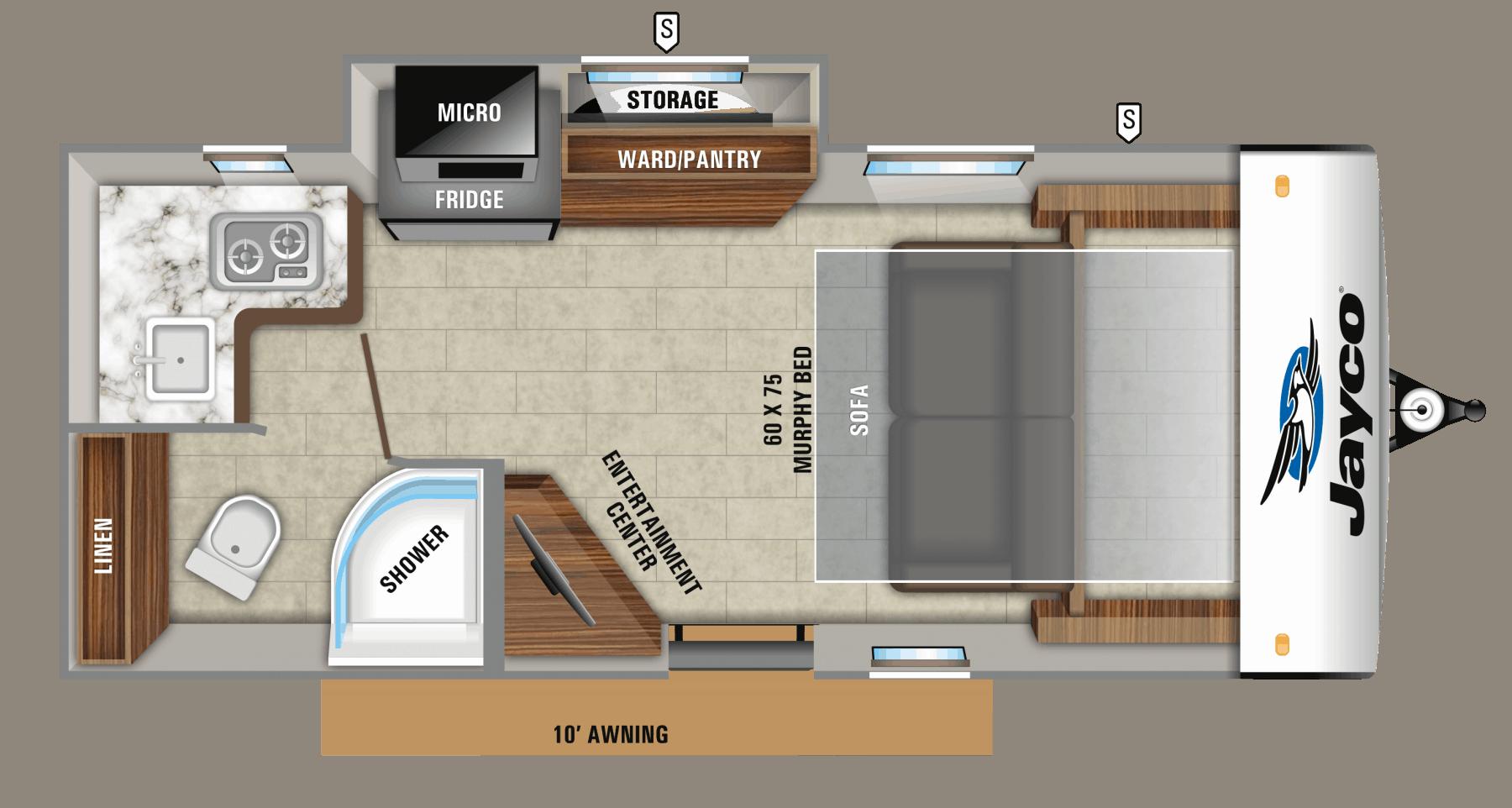 Jayco Hummingbird 17MBS Floorplan