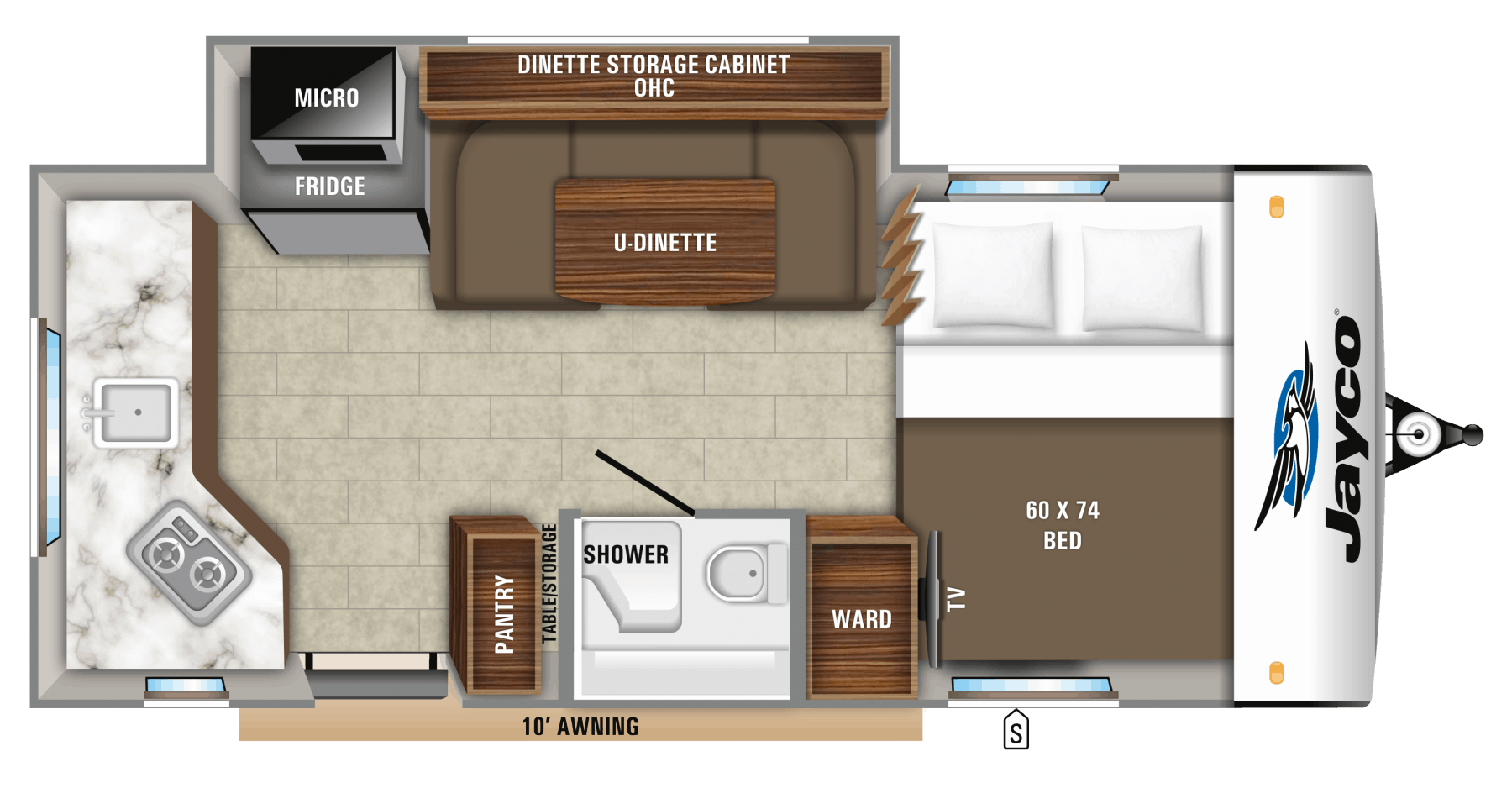 Jayco Hummingbird 17RK Floorplan