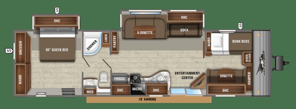 Jayco Jay Flight 38BHDS Floorplans