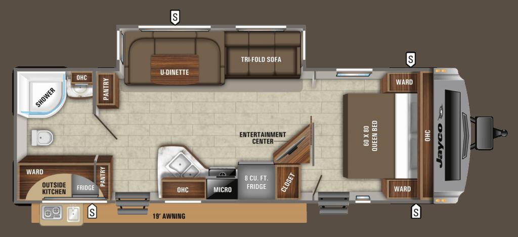 Jayco White Hawk 27RB Floorplans