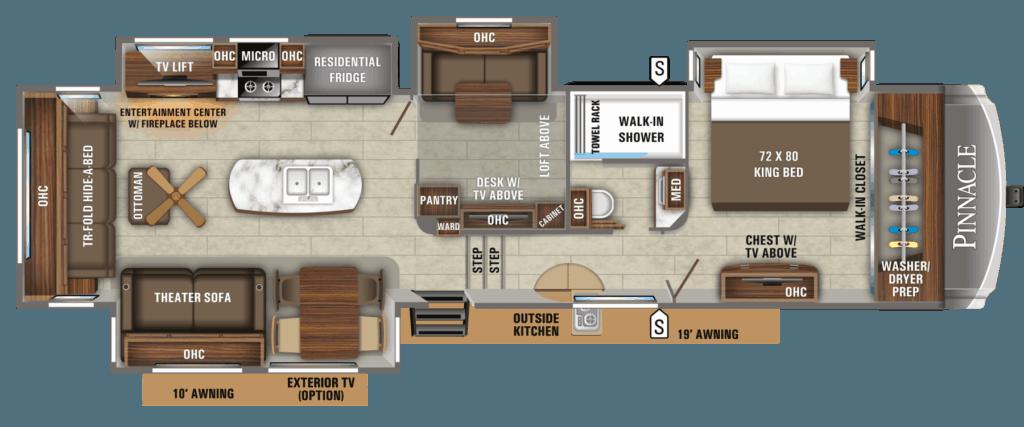 Jayco Pinnacle 37MDQS Floorplans