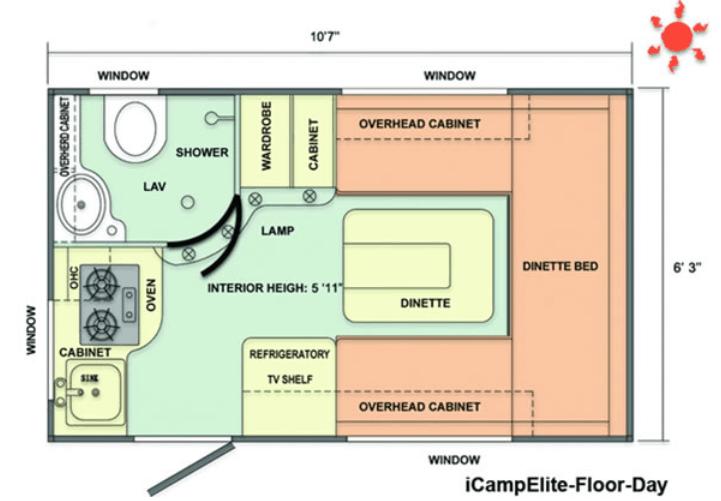 iCamp Elite Floorplan