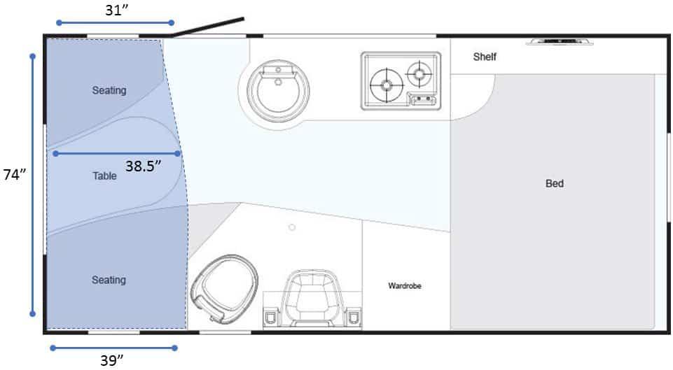 nuCamp Tab 400 Floorplan