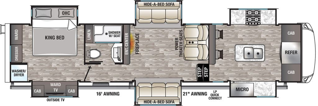 Cedar Creek 38EFK Floorplan