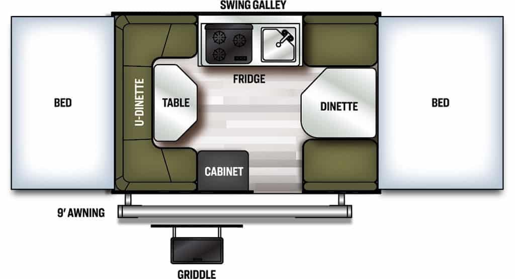 Forest River Flagstaff Tent Floorplan