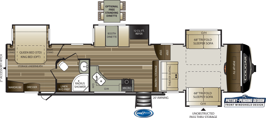 Keystone Cougar 367FLS Floor plan