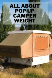 Pop up Camper Weight