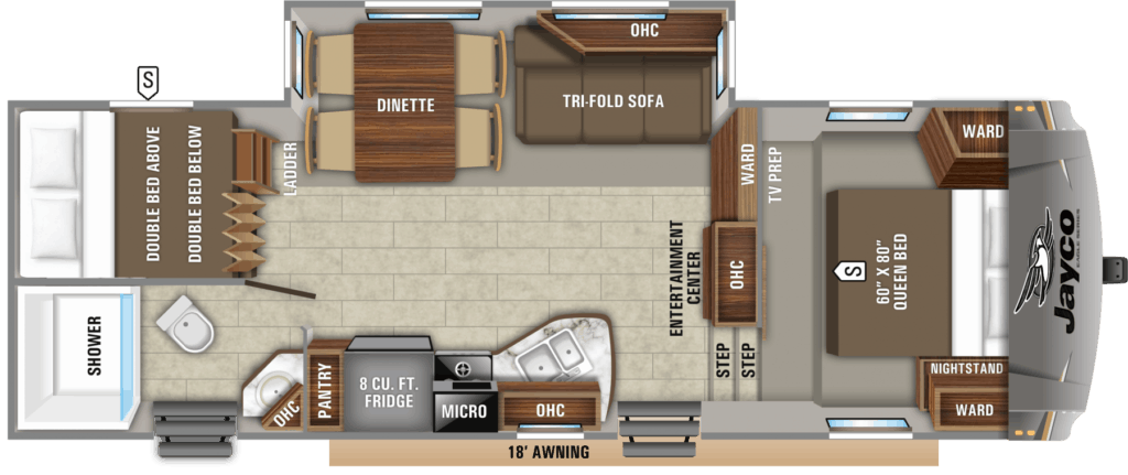 Jayco Eagle HTX 26BHX Floorplans