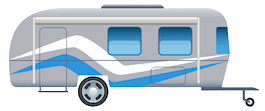 Travel Trailer Vector