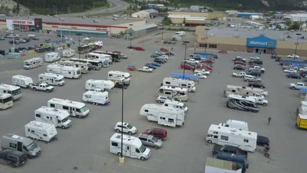 Walmart RV Parking Overnight
