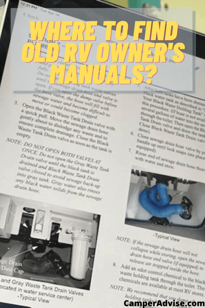 Where to Find Old RV Owner's Manuals?