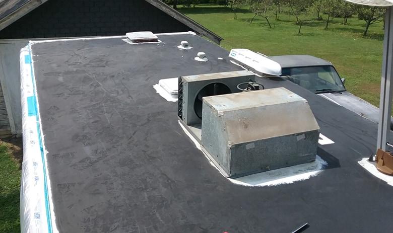 RV Roof Damage