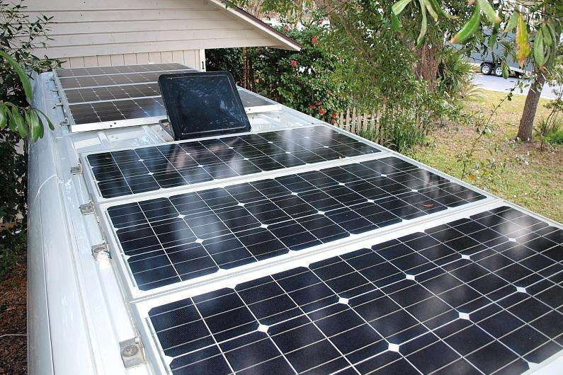 Rigid RV solar panels