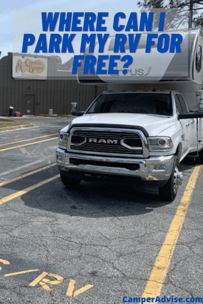 Where Can I Park My RV for Free