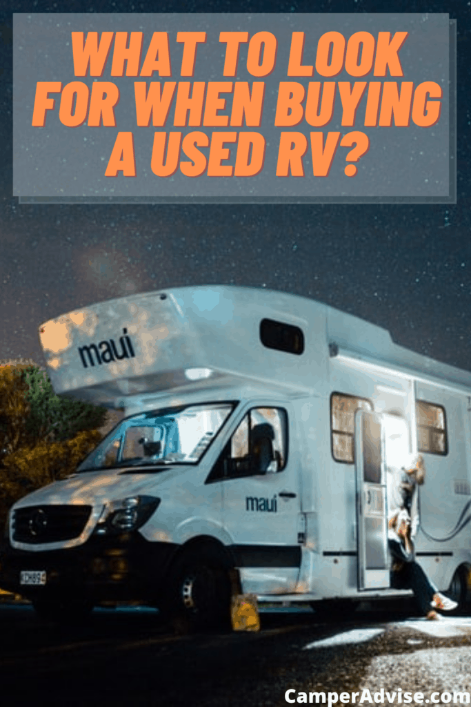 What to Look for When Buying a Used RV?