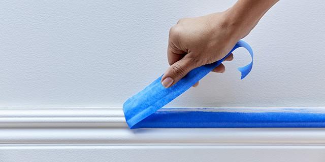 peeling masking tape
