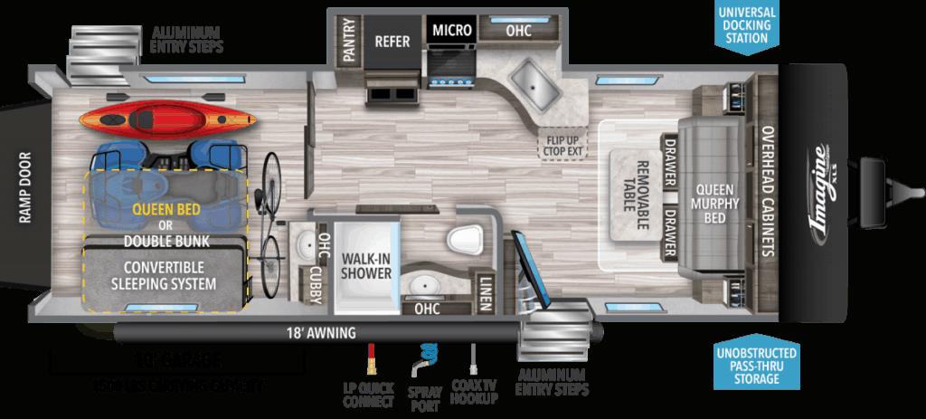 Grand Design Imagine XLS 24MPR Floorplan