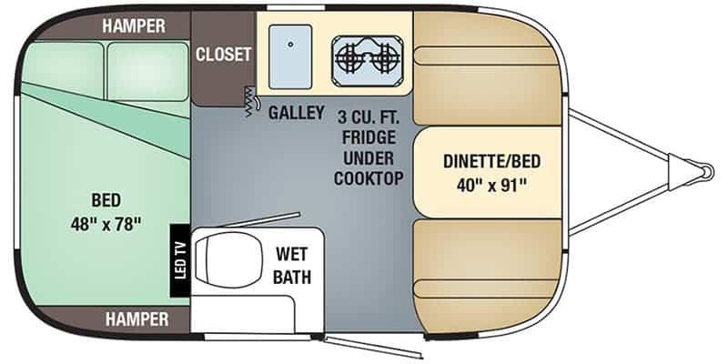 Airstream Sport 16RB Floorplan