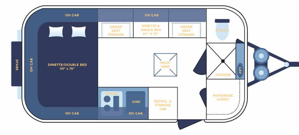 Casita Spirit Deluxe Floorplan