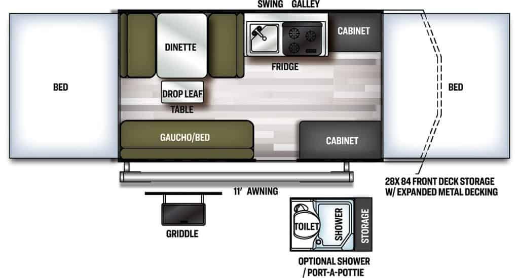 Forest River Flagstaff 228BHSE Floorplan