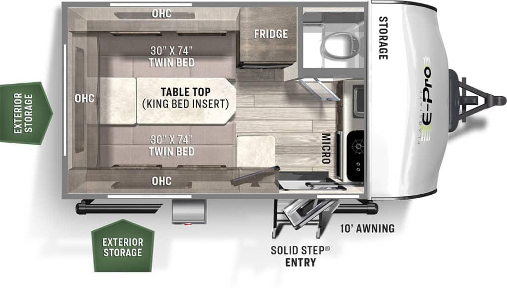 Forest River Flagstaff E-Pro E15TB Floorplan