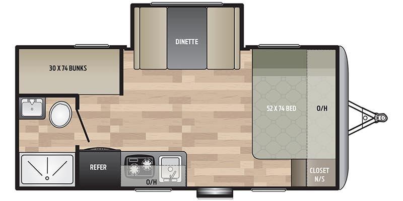Keystone Springdale Mini 1760BH Floorplan