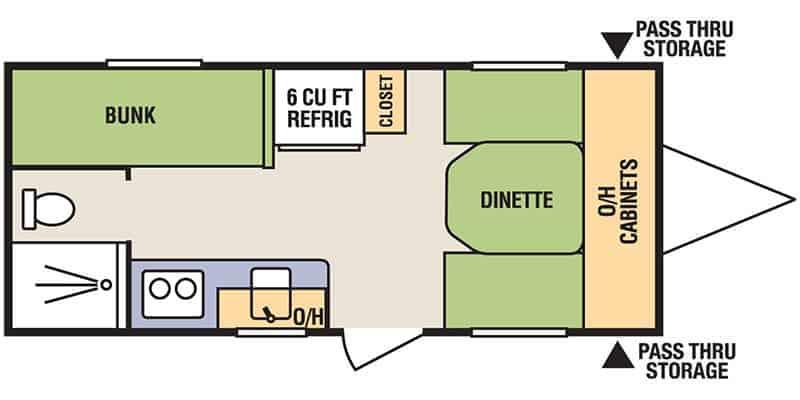 Livin Lite Camplite CL16BHB Floorplan