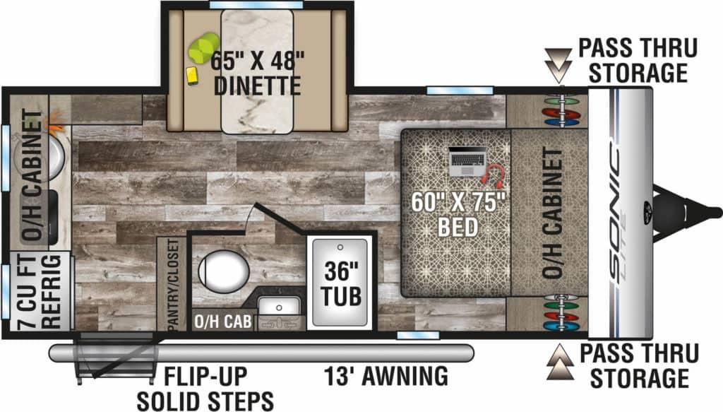 Venture RV Sonic Lite Ultra-Lite Floorplan