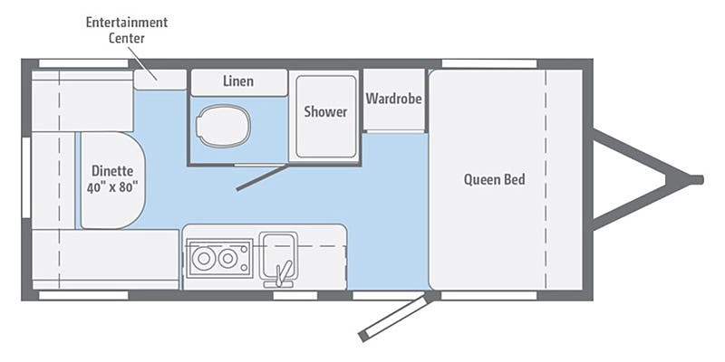 Winnebago Micro Minnie 1705RD Floorplan