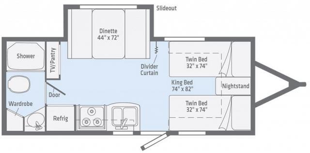 Winnebago Micro Minnie 2108TB Floorplan