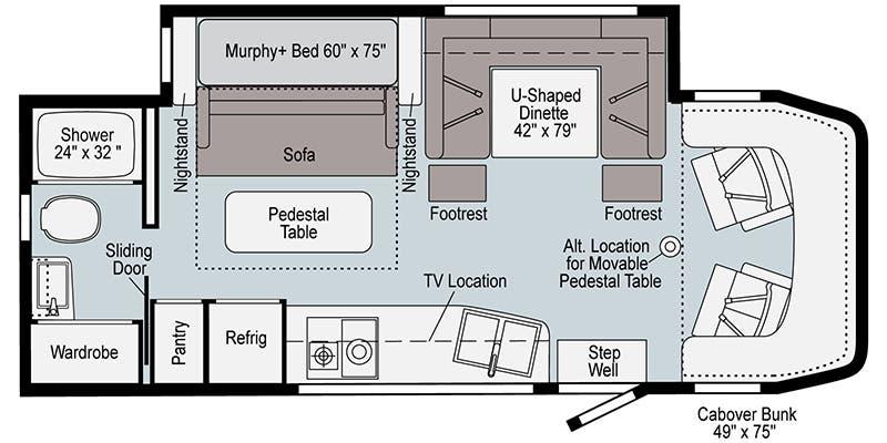 Winnebago View 24D Floorplan