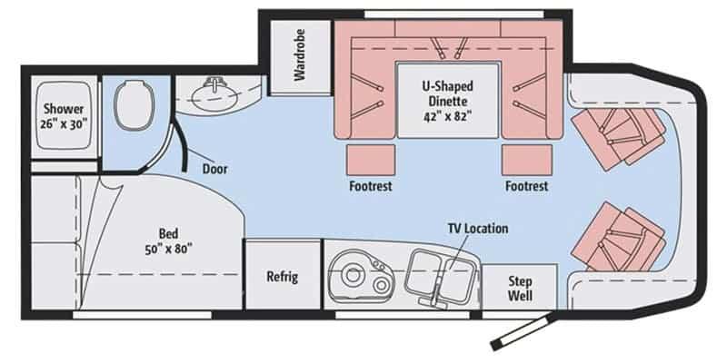 Winnebago View 24J Floorplan