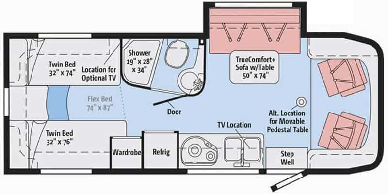 Winnebago View 24V Floorplan