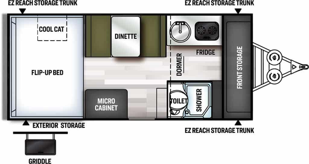 Forest River Flagstaff Hard Side Floorplan