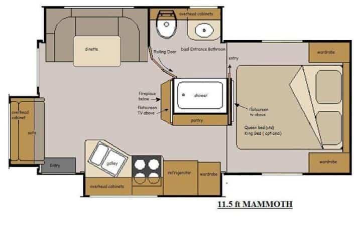 Host Mammoth 11.5 Floorplan