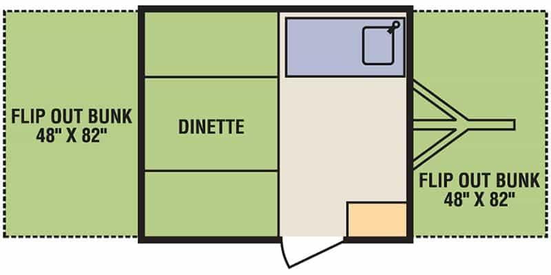 Livin' Lite Quicksilver 8.0 Floorplan