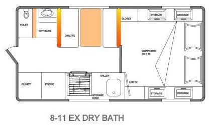 Northern Lite 8-11 Dry Bath Floorplan
