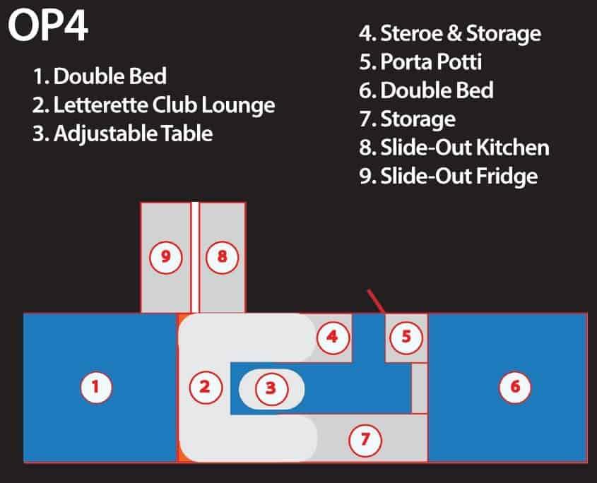Opus OP4 Floorplan