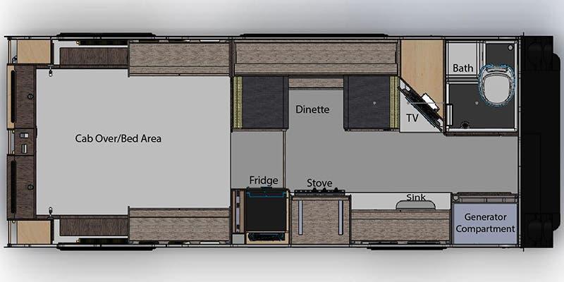 nuCamp Cirrus 920 Floorplan