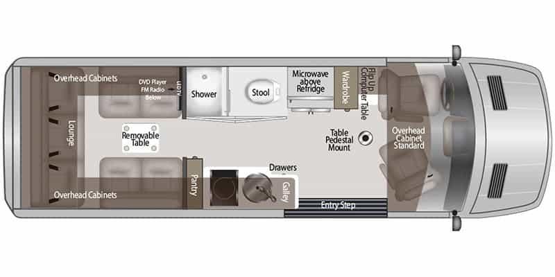 American Coach Patriot MD2 Floorplan
