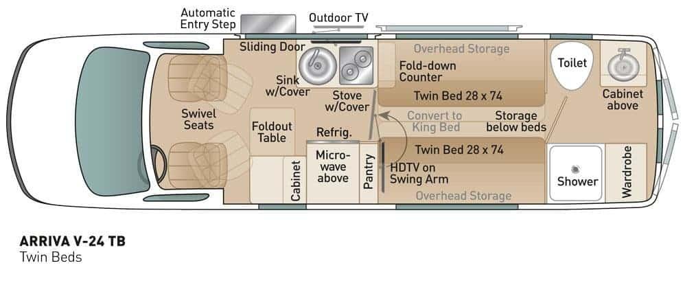 Coach House Arriva V24 Floorplan