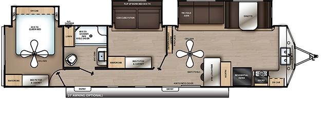 Coachmen Catalina Destination floorplan