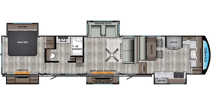 CrossRoads RV Cameo CE4021FK Floorplan