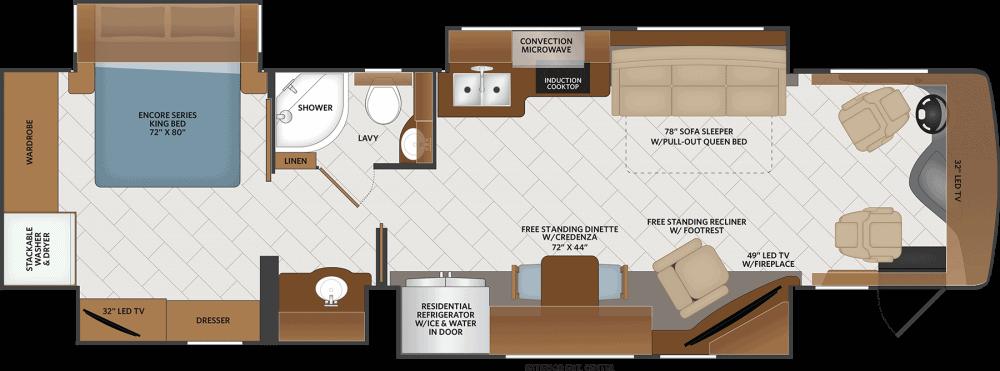 Fleetwood Pace Arrow LXE Floorplan