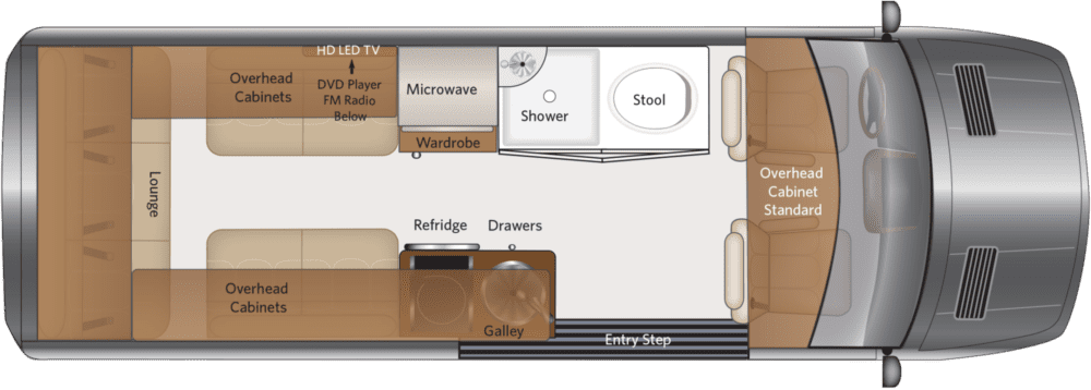 Fleetwood RV Irok Lounge Floorplan