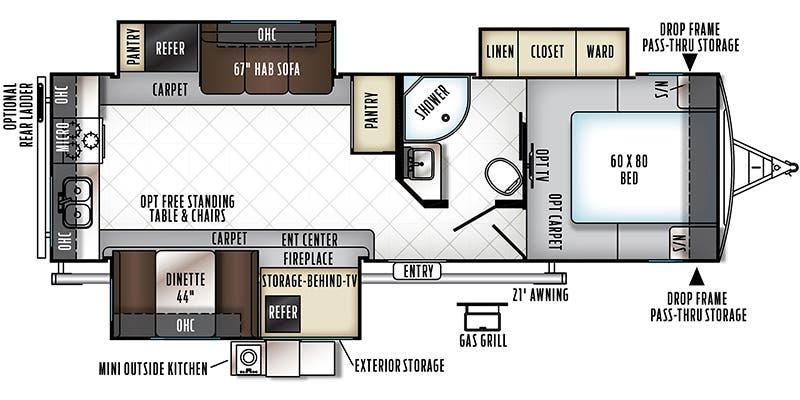 Forest River Flagstaff Classic Super Lite Floorplan