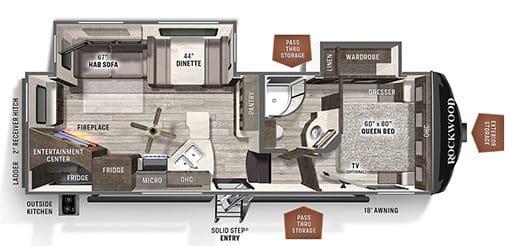 Forest River Rockwood Ultra Lite Floorplan