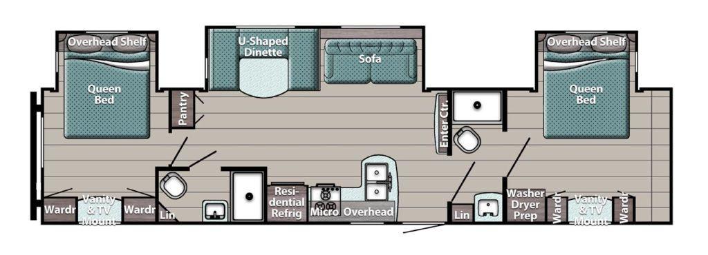 Gulf Stream Trailmaster Special Edition 33DBDB Floorplan